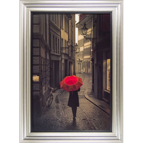 Stefano Corso - Red Rain Framed Print