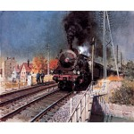 Terence Cuneo - A Local Train Pulls Out