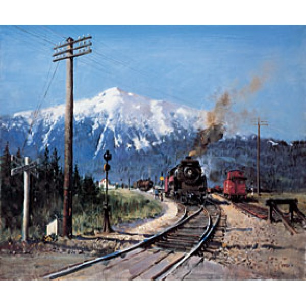Terence Cuneo - Steam in the Rockies